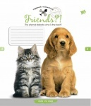 А5/12 в клеточку YES KITTEN & PUPPY-16, тетрадь