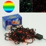 Гирлянда 10 м, 300 разноцветных лампочек