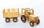 Модель сборная : Трактор ЮМЗ – 6 с прицепом 1989