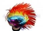 Парик Панка разноцветный Ирокез