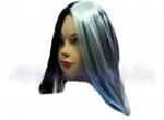 Парик бело-черный с длинными волосами