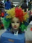 """Парик """"Клоуна"""", цветной, кучерявый"""