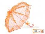 Зонт кружевной, цвет оранж