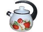 Чайник с крышкой 2,5л/2 белый с разным рисунком