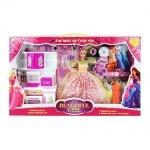 Кукла с нарядами и мебелью