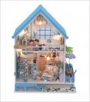 Домик для Барби, деревянный, мебель