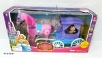 Карета с лошадью и маленькой куколкой