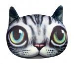 """Антистрессовая игрушка """"SOFT TOYS """"Кіт глазастий"""" серый полосатый"""