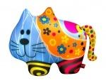"""Антистрессовая игрушка мягконабивная """"SOFT TOYS """"Кіт"""", в цветочек"""