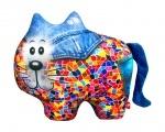"""Антистрессовая игрушка """"SOFT TOYS """"Кіт"""", джинсовый"""