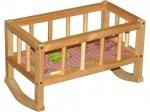 Кроватка-качалка деревянная Винни Пух
