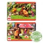 """Деревянная игрушка рамка-вкладыш """"Маша и Медведь"""""""
