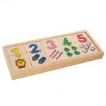 Деревянная игрушка пазлы-домино