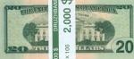 """Пачка денег (сувенир) Доллары """"20"""""""