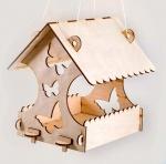"Набор для творчества ""Деревянная кормушка для птиц с бабочками"""