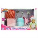 Детский металлический  кухонный набор, 8 предметов