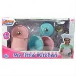 Детский металлический кухонный набор, 9 предметов