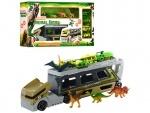 Игровой набор транспорта трейлер с динозаврами