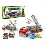Игровой набор - Трейлер с машинками и вертолетом