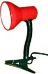 "Лампа настольная ""DeLux"" TF-04 на прищепке красная"