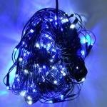 Гирлянда электронная 200 d ламп RGB (сетка) сине-белая