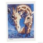 """Картина """"Жирафы"""" по номерам 30*40см"""