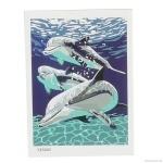 """Картина """"Дельфины"""" по номерам 30*40см"""