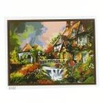"""Картина """"Водопад в саду"""" по номерам 50*65см"""