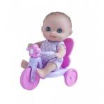 Пупс Малыш с велосипедом 13 см