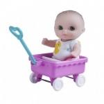 Пупс Малыш с тележкой 13 см