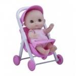 Пупс Малыш с коляской 13 см