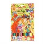 """Карандаши """"Украинские девочки"""" 18 цветов"""