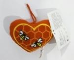 Мягкая игрушка Сердечко с пчёлами