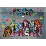 Папка на кнопке Monster High, А4