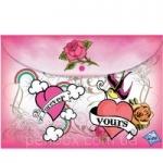 "Папка-конверт ""Pink Cookie-2"" на кнопке"