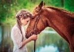 """Пазлы 500 """"Девушка и лошадь"""""""