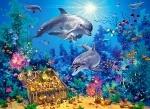 """Пазлы 300 """"Семья дельфинов"""""""