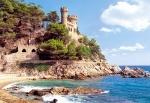 """Пазлы 1000 """"Крепость Lloret de Mar, Испания"""""""