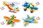 """Беби пазлы 4в1 """"Смешные самолеты"""""""