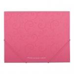 """Папка на резинке А5 """"BuroMAX"""" 3902-10 """"Barocco"""", розовая"""