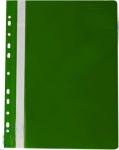 Скоросшиватель пластиковый А4, 3331 зеленый с перфорацией