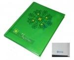 """Блокнот А5 клетка """"Optima"""" Украина, зеленый"""