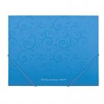 """Папка пластик А5 """"BuroMAX"""" 3902-14 """"Barocco"""" на резинке голубая"""