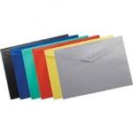 Папка-конверт на кнопке BUROMAX A4 рельефный пластик 170мкм фиолетовый