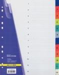 Индекс-разделитель BUROMAX A4 1-12(12позиций) пластик ассорти