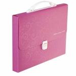 Портфель Buromax 3719-10 пластиковый A4 Barocco розовый