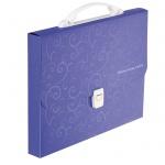 Портфель Buromax 3719-07 пластиковый A4 Barocco, фиолетовый