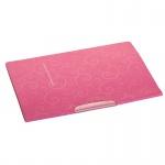 Папка-скоросшиватель BAROCCO 3303-10 с поворотным зажимом, розовая