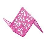 Подставка для визиток металлическая BAROCCO BM6226-10, розовая