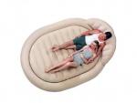 Надувная кровать Бествей Royal Round Air Bed, бежевая